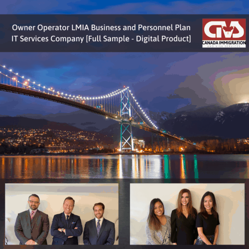 Owner Operator LMIA Business Plan - IT Services