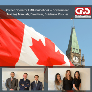 Owner Operator LMIA Guidebook Government Manuals and Policies