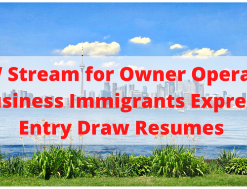 FSW Stream for Owner Operator Business Immigrants to Canada Resumes Invitations for Permanent Residency in Express Entry